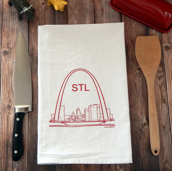 St Louis Arch - red