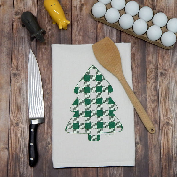 Buffalo Plaid Pine Tree - green