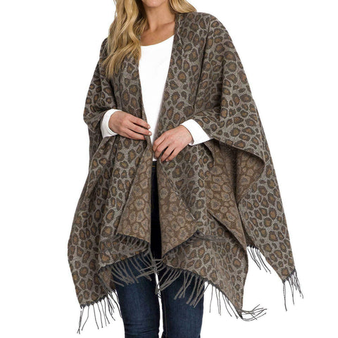 -NEW-WOOLRICH COZY BLANKET WRAP KATE LEOPARD-ONE SIZE-