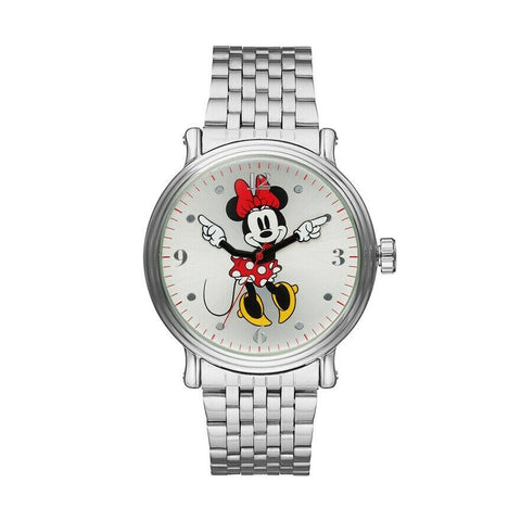 NEW IN BOX-Disney Minnie Mouse Stainless Steel Quartz Women's Watch W001881