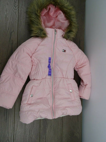 Tommy Hilfiger Girl's Hooded Jacket Size XS 5/6 Crystal ROSE