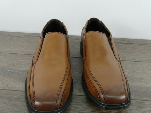 Kenneth Cole Men's Brown Zapato Slip On Loafer Shoes (Size 8/Brown)