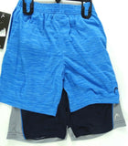 New!  HEAD Youth 2 Piece Athletic  Shorts Set, Navy/ OKC Blue Size Small