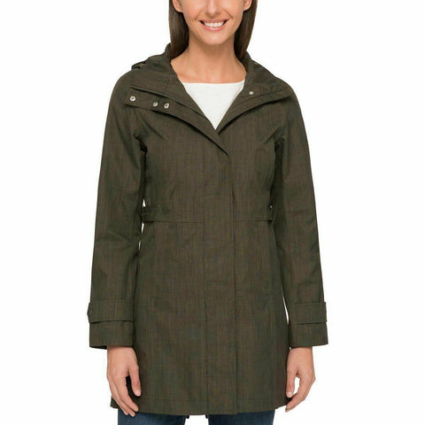 Kirkland Signature Ladies' Trench Coat Size Small Olive