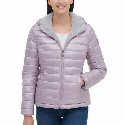 New Andrew Marc Ladies' Reversible Jacket PINK REVERSIBLE Gray XL
