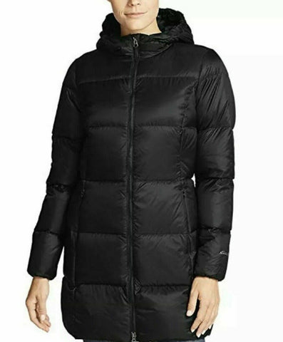 Eddie Bauer Women's Coat Luna Peak Down Parka Jacket X-Large/Black