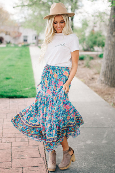 Floral Dreams Maxi Skirt