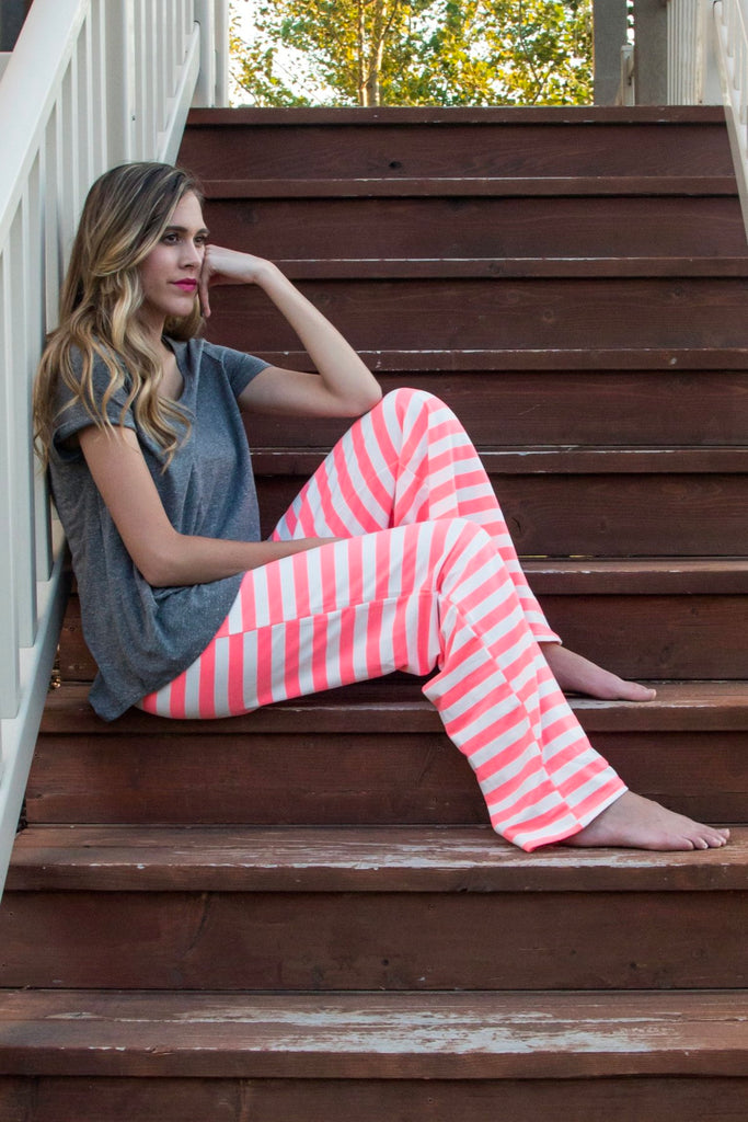 Pink Striped Lounge Pants