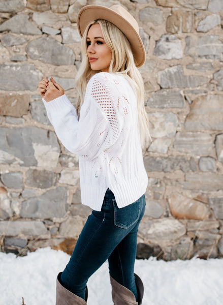 Loose Fit Jumper Sweater - White