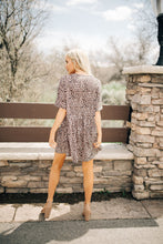 Load image into Gallery viewer, Cheetah Print Button Dress