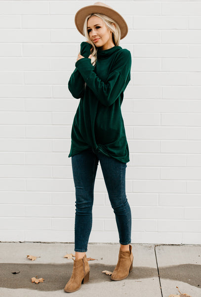 Y-Knot Long Sleeve Top - Green