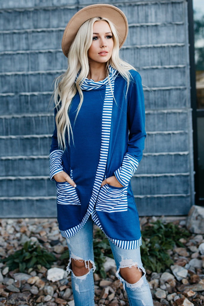 Fabulous Asymmetric Tunic - Blue