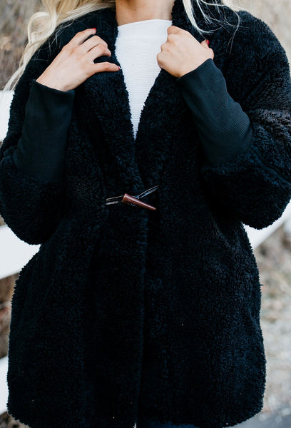 Soft and Cozy Coat - Black