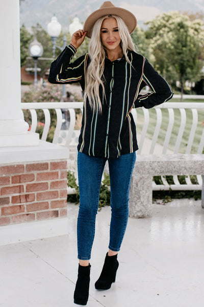 Own The Night Blouse - Black