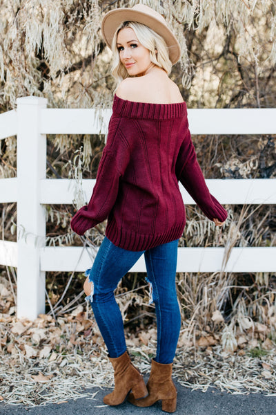 Show Me Off Sweater - Burgundy