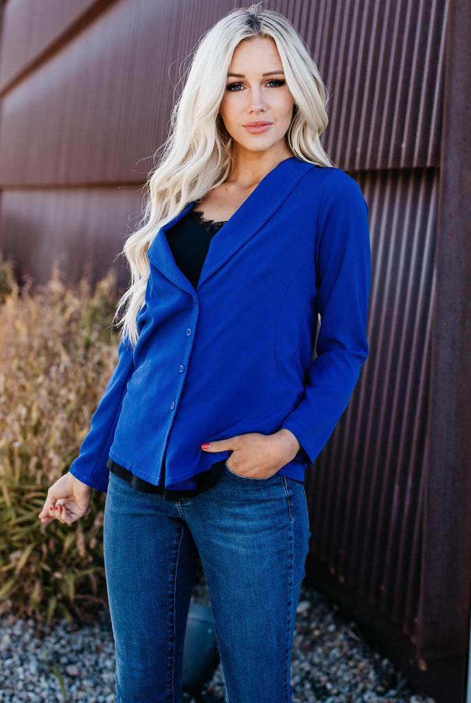 Day To Night Blouse - Blue
