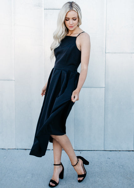 Best Date Flirty Dress - Black