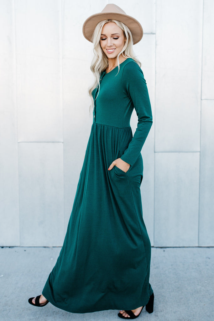 Nothing Better Long Sleeve Maxi - Green
