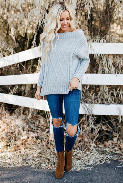 Show Me Off Sweater - Gray