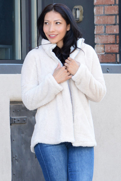 Cuddle Up Jacket - Beige