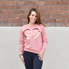 Load image into Gallery viewer, Love Pullover Sweatshirt - Pink