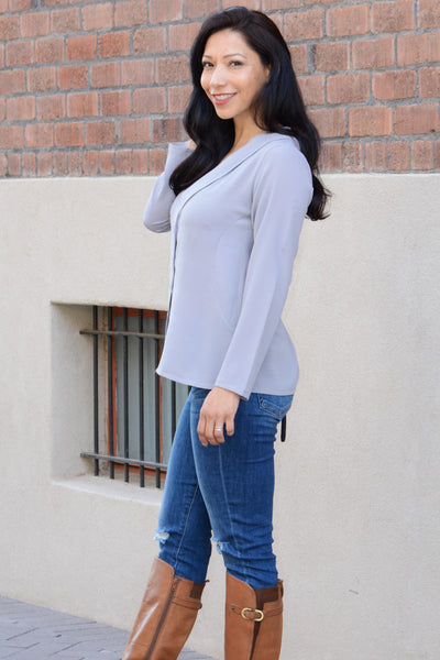 Day To Night Blouse - Grey
