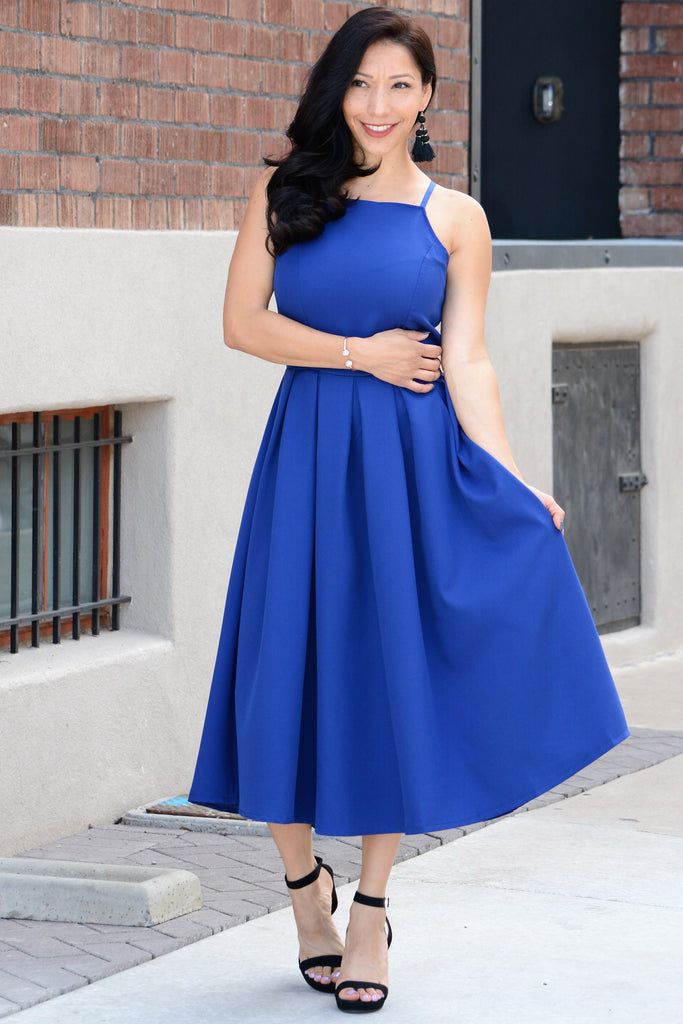 Best Date Flirty Dress - Blue