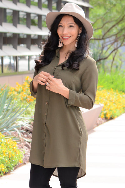 Up For Anything Tunic - Olive