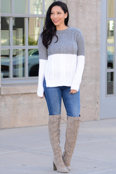 Cozy Up Sweater - Gray