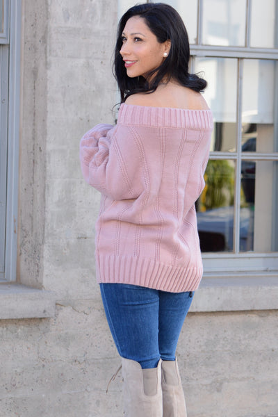 Show Me Off Sweater - Pink
