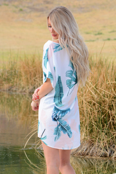 Knot Palm Leaf Cover Up - White