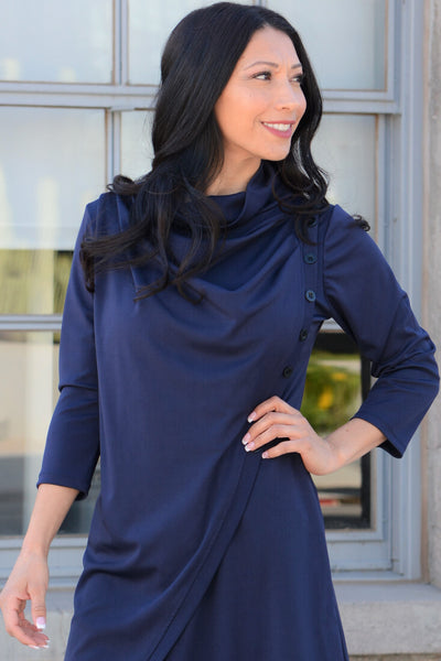 Oh So Comfy Long Tunic - Navy