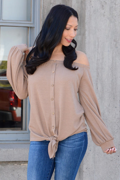 Off The Shoulders Baby - Khaki