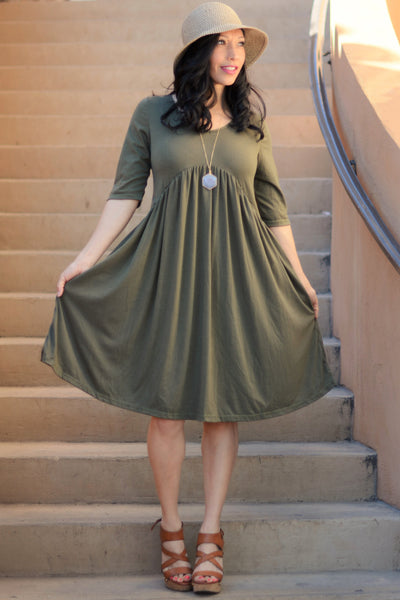 Everyday Tunic Dress - Olive