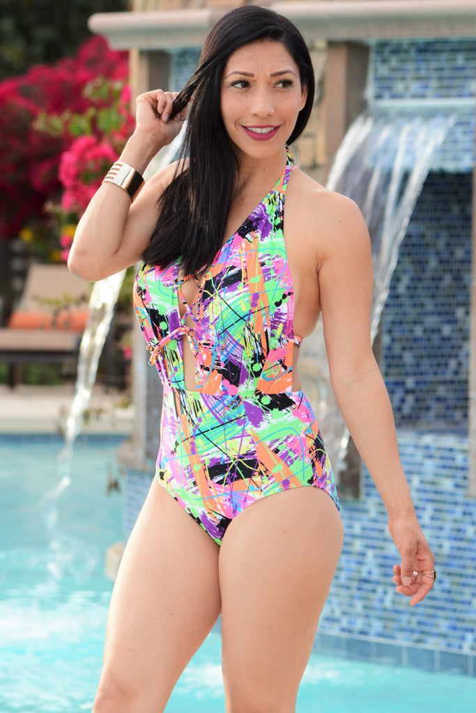 Color My World One Piece Swimsuit