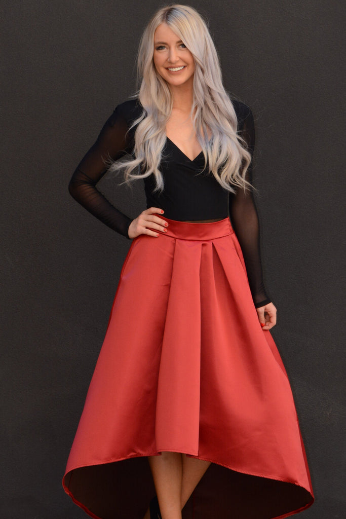 Take Me Out Party Skirt - Red