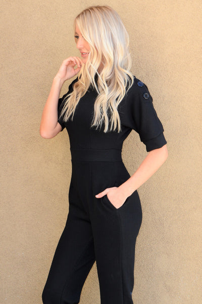 Pocket Jumpsuit - Black