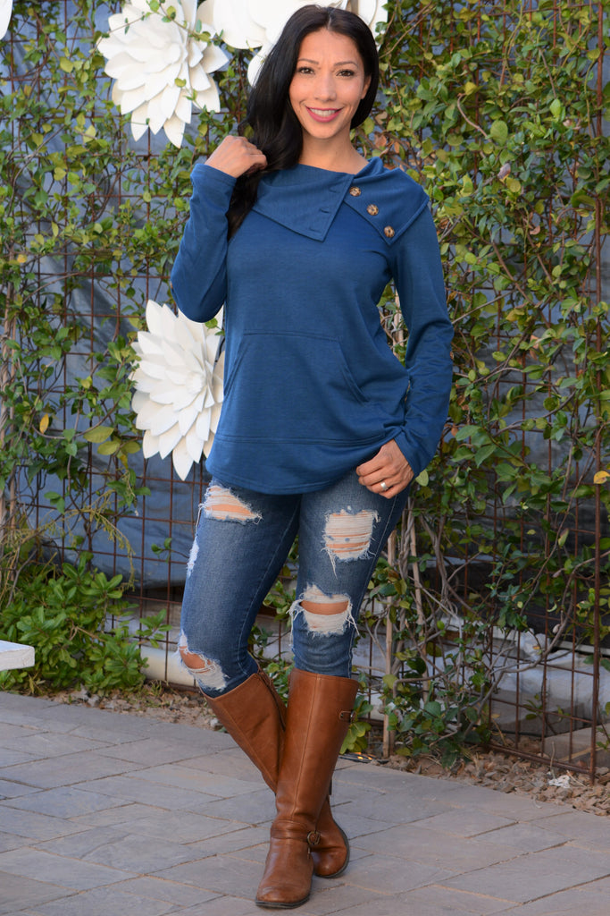 Fall Feelings Top - Blue