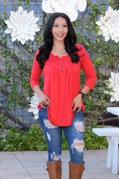 Joys Of Life Tunic - Red