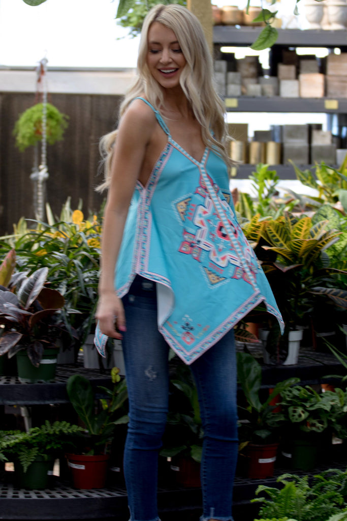Summer Vibes Top - Aqua