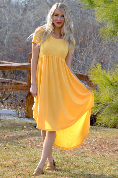 Spring Days Dress - Yellow