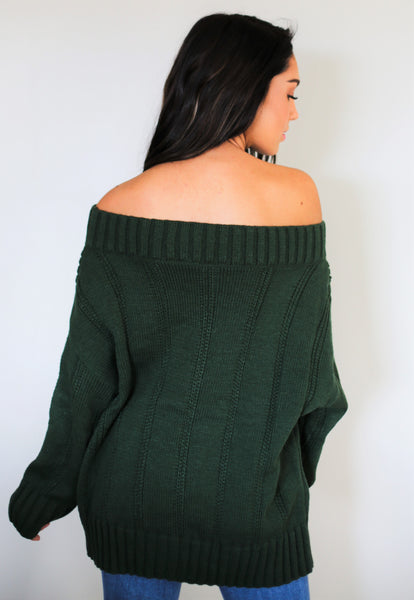 Show Me Off Sweater - Green