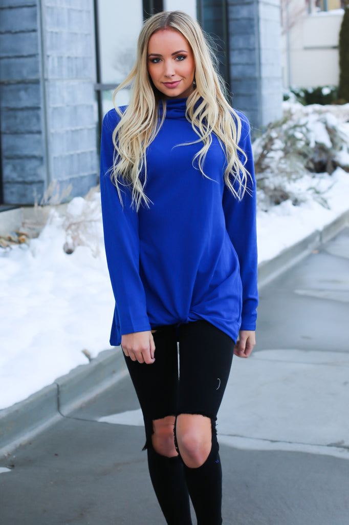 Y-Knot Long Sleeve Top - Blue