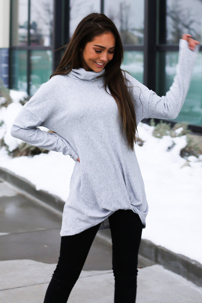 Y-Knot Long Sleeve Top - Gray