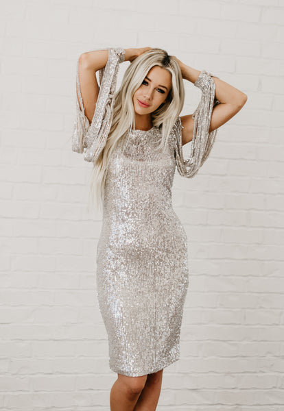 Perfect Valentine's Day Dress - Silver