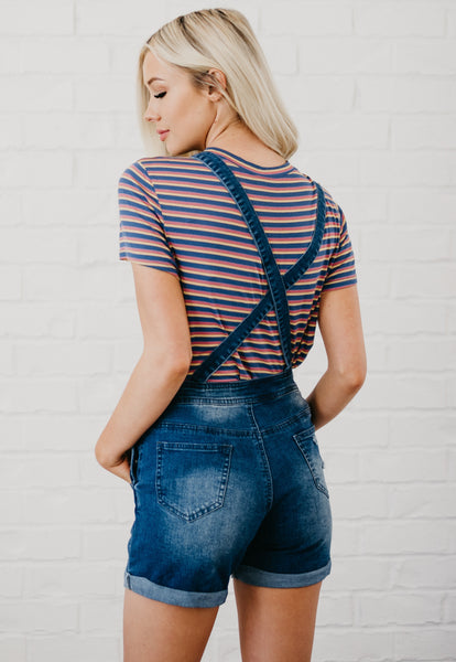 Super Cute Overalls - Dark Denim