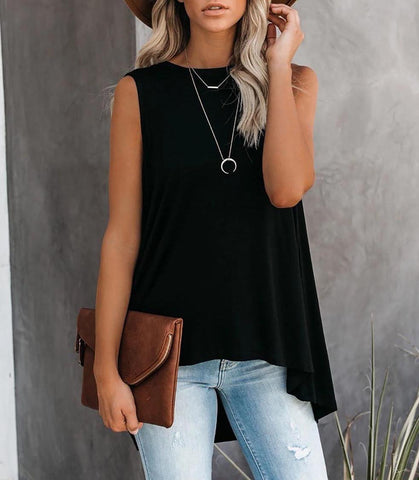 Relaxed Tank Top - Black