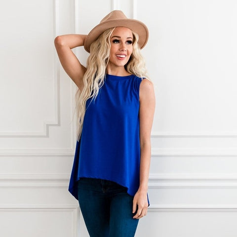 Relaxed Tank Top - Blue