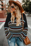 Stripe Pattern Sweater - Beige