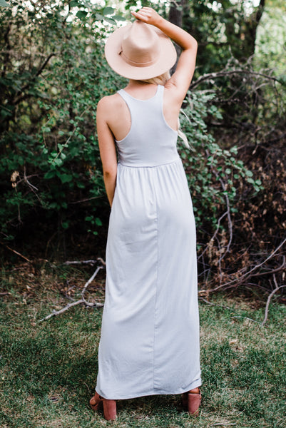 Racerback Pocket Maxi - Light Grey
